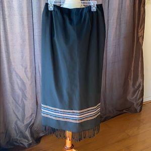 Michele Fringed Skirt